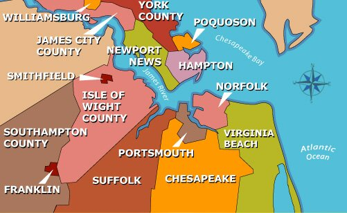 maps of virginia beach. Click on the map for